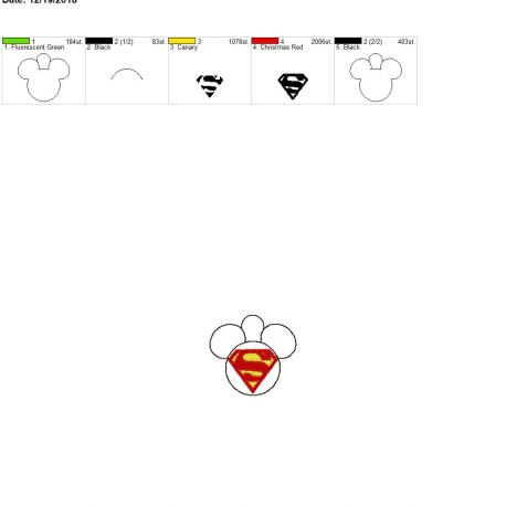 Super Hero Mouse Eyelet 4×4