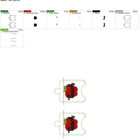 Teach Sanitizer Holder 5×7 grouped