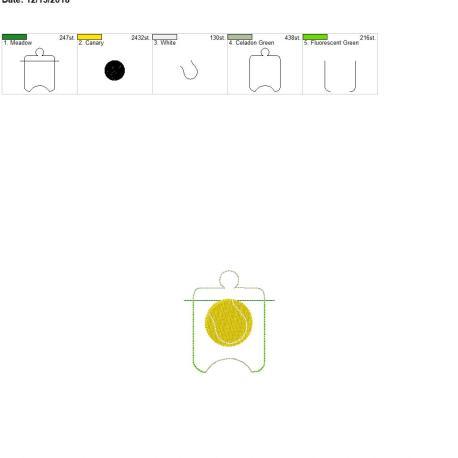 Tennis sanitizer holder eyelet 4×4
