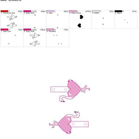 Valentine Heart Flamingo snap tab 5×7 grouped