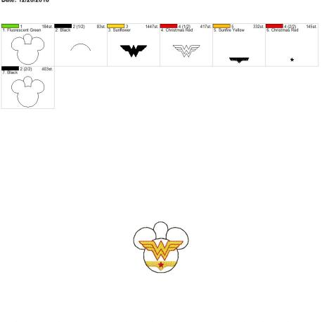 Wonder Hero Mouse Eyelet 4×4