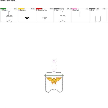 Wonder Hero Sanitizer Holder snap tab 5×7