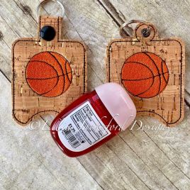 ITH Basketball Sanitizer Holder 4×4 and 5×7 included- Embroidery Design – DIGITAL Embroidery DESIGN
