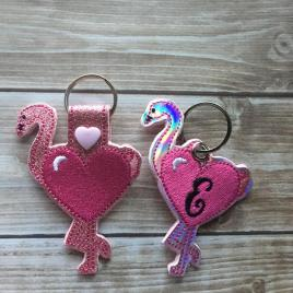 ITH Valentine Heart Flamingo Tab and eyelet Fobs 4×4 and 5×7 included- Embroidery Design – DIGITAL Embroidery DESIGN