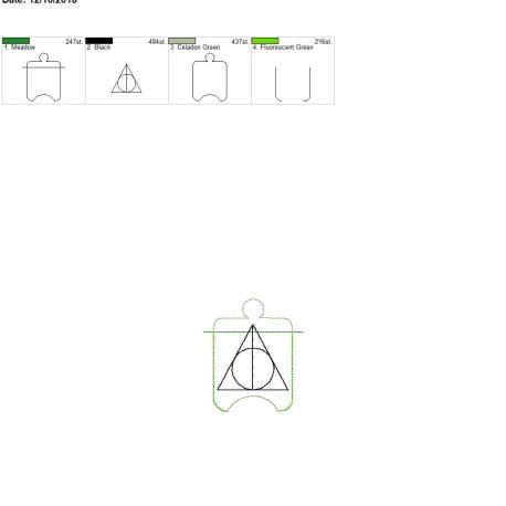 wizard triangle sanitizer holder eyelet 4×4