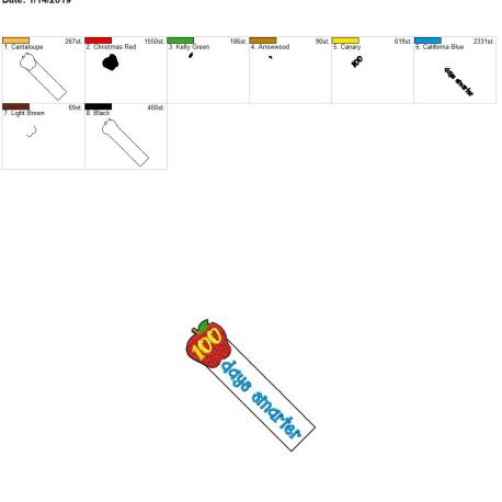 ITH 100 days smarter bookmark 4×4