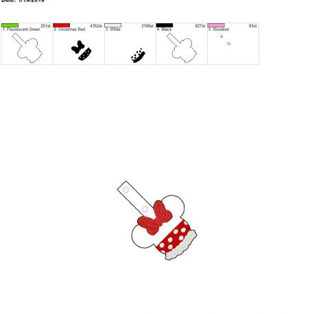 Miss Mouse snap tab 4×4