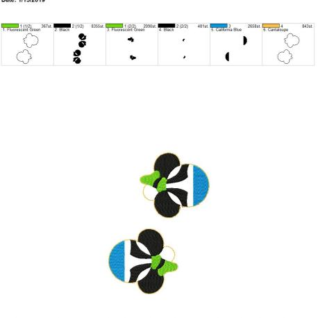 Silly Dog Mouse Eyelet 5×7 grouped