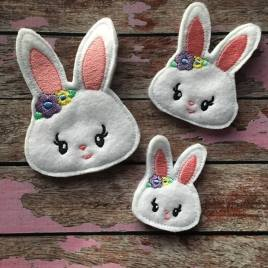 ITH – Bunny Felties – 3 sizes- Digital Embroidery Design