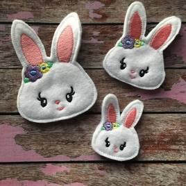 ITH – Bunny Felties – 3 sizes- Digital Embroidery Design