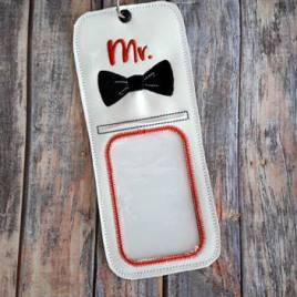 ITH Mr. ID holder/luggage tag – 5 x 7 – Embroidery Design – DIGITAL Embroidery design