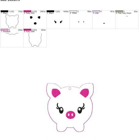 Piggy bank pouch 5×7