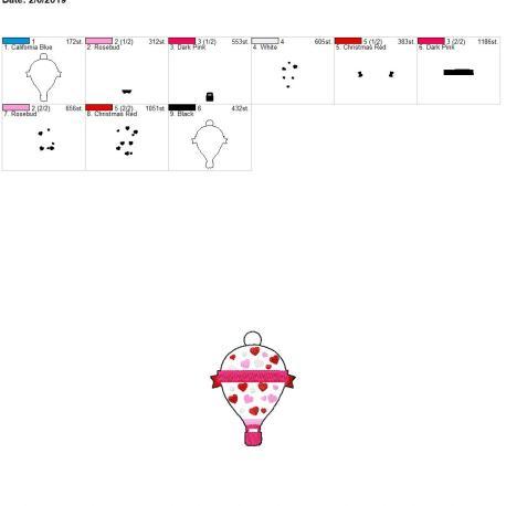 Valentine Hot air balloon eyelet 4×4