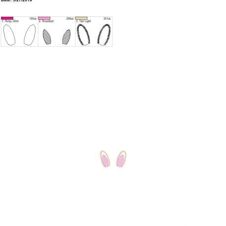 3d bunny ears 4×4 single