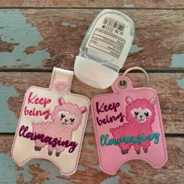 ITH Keep Being Llamazing Sanitizer Holders 4×4 and 5×7 included- Embroidery Design – DIGITAL Embroidery DESIGN