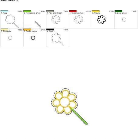 Color Matching flower feltie 4×4