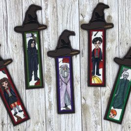 ITH – Wizard Hat Applique Bookmark  5×7 – Digital Embroidery Design