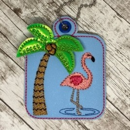 ITH 3D Summertime fobs 4×4 and 5×7 included- DIGITAL Embroidery DESIGN