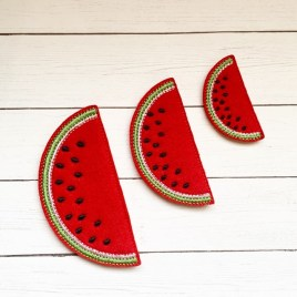 ITH – Watermelon Felties – 3 sizes- Digital Embroidery Design