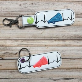 ITH Cheer EKG Fobs – 4×4 and 5×7 grouped-DIGITAL Embroidery DESIGN