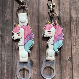 ITH Unicorn Water Bottle Holders – 4×4 and 5×7 – DIGITAL Embroidery DESIGN