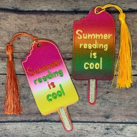 ITH – Summer Reading is Cool Popsicle Bookmark 4×4 and 5×7 Grouped – Digital Embroidery Design