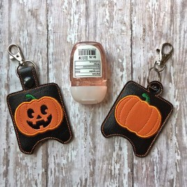 ITH Jack o Lantern Sanitizer Holder 4×4 and 5×7 included- DIGITAL Embroidery DESIGN