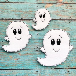 ITH -Boy Ghost Felties – 3 sizes- Digital Embroidery Design