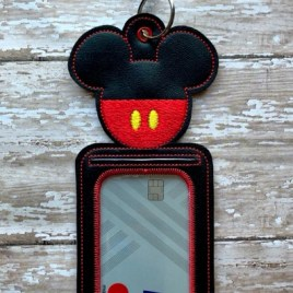 ITH – Mister Mouse ID Holder 5×7 only – Digital Embroidery Design