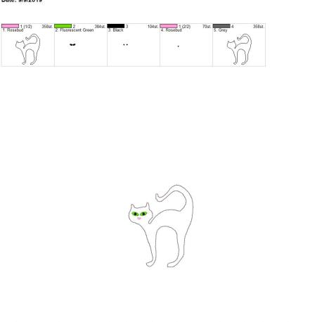 Black cat feltie 3.75 inch 4×4