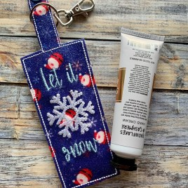 ITH Let it Snow Hand Cream Holder 5×7 – DIGITAL Embroidery DESIGN