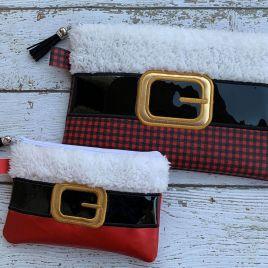ITH – Santa Belt Zipper Bag 5×7, 6×10, 8×12 – Digital Embroidery Design