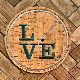 ITH Love Hockey Coaster 4×4 – DIGITAL Embroidery DESIGN