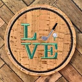 ITH Love Golf Coaster 4×4 – DIGITAL Embroidery DESIGN