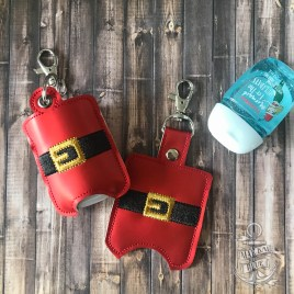 ITH Santa Belt Sanitizer Holders 4×4 and 5×7 included- DIGITAL Embroidery DESIGN