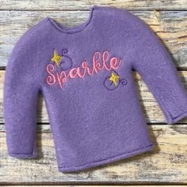 ITH – Sparkle Doll Sweater 5×7 – Digital Embroidery Design