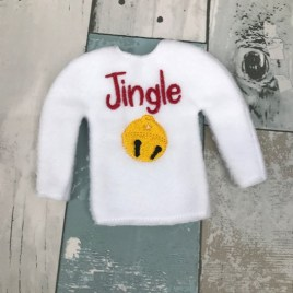 ITH – Jingle Doll Sweater 5×7 – Digital Embroidery Design