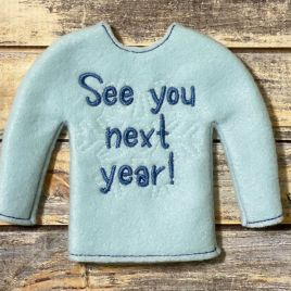 ITH – See You Next Year Doll Sweater 5×7 – Digital Embroidery Design