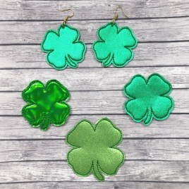 ITH – Shamrock Felties – 3 sizes – 4×4 and 5×7 Grouped- Digital Embroidery Design