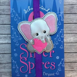ITH – Valentine Elephant – Book Band – Digital Embroidery Design