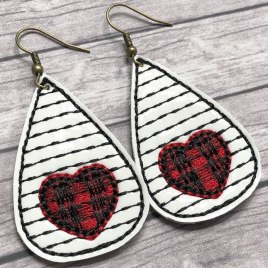 ITH – Sweet Susie Earrings – 3 sizes – 4×4 and 5×7 Grouped- Digital Embroidery Design