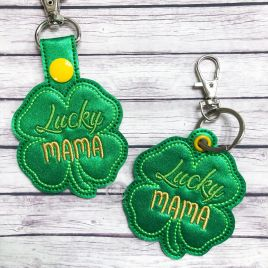 ITH Lucky Mama Fobs 4×4 and 5×7 included –  DIGITAL Embroidery DESIGN