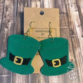 ITH – Leprechaun Hat Felties – 3 sizes – 4×4 and 5×7 Grouped- Digital Embroidery Design