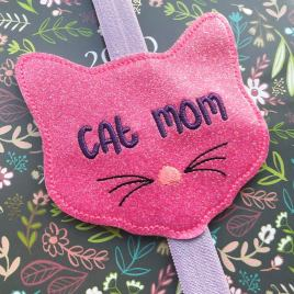 ITH – Cat Mom – Book Band – Digital Embroidery Design