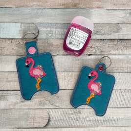 ITH Floating Flamingo Sanitizer Holders 4×4 and 5×7 included- DIGITAL Embroidery DESIGN