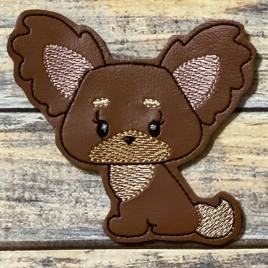 ITH – Fluffy Puppy Felties – 3 sizes – 4×4 and 5×7 Grouped- Digital Embroidery Design