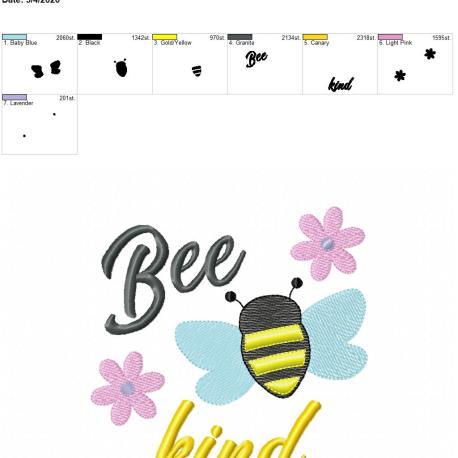Bee Kind 6×10