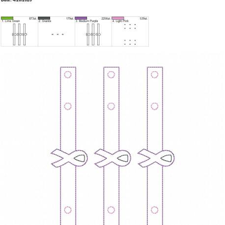 Mask extender Awareness ribbon 5×7 grouped