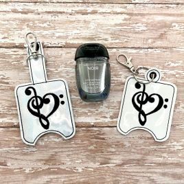 ITH Music Love Sanitizer Holders 4×4 and 5×7 included- DIGITAL Embroidery DESIGN