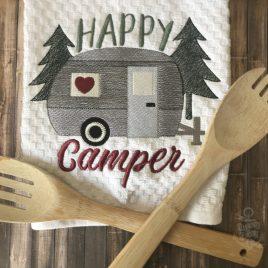 Happy Camper Sketch – 4 Sizes – Digital Embroidery Design